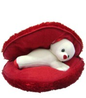 Saugat Traders Very Big Heart With Teddy - 18.9 Inch (Red)