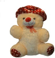 Shree Krishna Teddy Bear With Cap  - 21 Inch (Beige, Red)