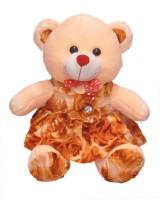Ktkashish Toys Kashish Valetine Special Girls Cream & Brown Teddy Bear 20 Inch  - 20 Inch (Brown)