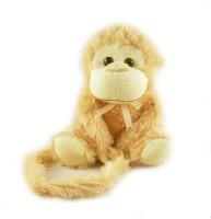 Tabby Cute Sitting Monkey - 16 Inch (Brown)
