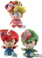 Super Mario Brothers Bros Baby Plush Set Of 3 With Mario Luigi & Peach  - 20 Inch (Multicolor)