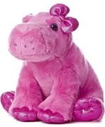 "Aurora World Soft Toys Aurora World Girlz Nation Pink Hippo Plush10"""