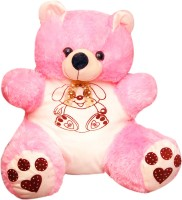 Green Apple Happy Teddy Bear  - 18 Inch (Pink)