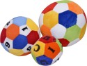 E Soft Combo Of 3 Printed Balls 9cm,13cm,16cm - 8 Inch - Multicolor