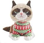 Grumpy Cat Soft Toys Grumpy Cat In Holiday Sweater