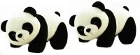 Cuddles Lovely Looking Realistic Panda Combo  - 26 Cm (White)