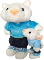 SCG Adorable Big And Medium Stuart Little Combo Soft Toy  - 30 Cm (White, Blue)