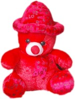 VRV Soft Red Love Teddy Bear With Cap  - 32 Cm (Red)