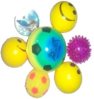 Light Gear Combo Of Playing, Squeeze And Glowing Balls Pack Of 7  - 3 Inch (Multi)