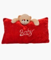 My Dress My Style Baby Pillow Cum Soft Toy For Kids, Decorative Cushion  - 18 Inch (Red)