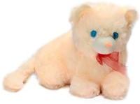 Deals India Stuffed Soft Plush Cute Cat 02  - 30 Cm (Beige)