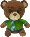 Soft Buddies Bear with Green Glass  - 13 inch - Brown