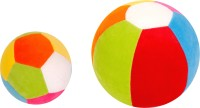 Lehar Toys Ball Mini + Ball Grande  - 12 Cm (Multicolour)