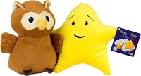 Super Simple Learning Twinkle Twinkle Owl & Star Official Plush Characters (2pc Set)  - 25 Inch (Multicolor74)
