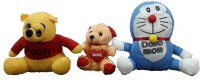 Ekku Doremon And Bear  - 11 Inch (Blue, Red, Yellow, Peach)