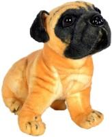 Fusion Toys Cute Brown Pug Dog  - 26 Cm (Fawn)
