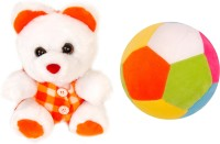 Lehar Toys Teddy And Ball  - 12 Cm (Orange)