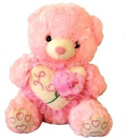 Tokenz Rose Love Heart : Teddy Bears  - 14 Inch (Pink)