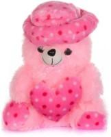 M Plus Teddy Bear  - 20 Inch (Pink, White)