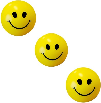 Abee Cute Smiley Stress Buster Pack Of 3  - 7 Cm (Yellow)