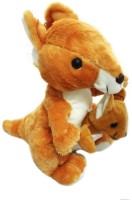 Shopaholic Cute Mother & Baby Kangaroo Toy  - 24 Cm (Multicolor)