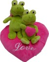 Play N Pets Sitting Animal with Heart - Frog  - 7.87 inch - Green