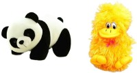 Atc Toys Panda Soft Toys & Duck Combo  - 26 Cm (White, Black, Yellow)