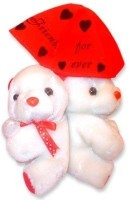 Tokenz Enchanting To The Core : Teddy Bears  - 8 Inch (White, Red)