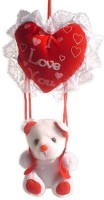 Tokenz A Loving Heart : Teddy Bears  - 20 Inch (Red, White)