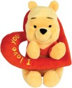 Disney Pooh With Valentine Heart  - 10 Inch - Red, Yellow