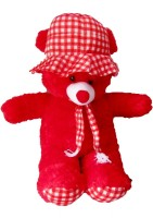 SONIYA ENTERPRISES Teddy Bear With Cap  - 80 Cm (Red)