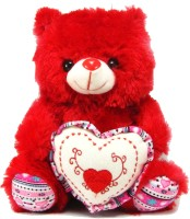 Tickles Lovely Teddy Sitting With Heart - 27 cm: Stuffed Toy