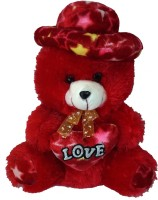 Muren 12 Inches (03) Teddy Bear Colour Red  - 12 Inch (Red)