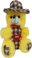JAI TEXTILES U-Turn Teddy Bear  - 12 Inch (Yellow)