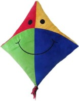 Play Toons Kite Cushion  - 10 Inch (Multicolor)