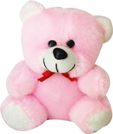 A Smile Toys & More Mini Teddy  - 6 Inch - Pink