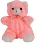 Soft Barn Fluorescent Sitting Teddy  - 11 Inch (Pink)