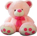 A Smile Toys & More Bow Teddy  - 25 Inch - Pink