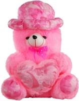 O Teddy Bear With Heart  - 11 Inch (Pink)