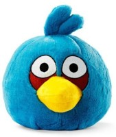 Angry Birds Plush 8Inch Blue Bird With Sound (Blue)