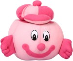 E Soft Soft Toys E Soft Pink Smille Storage Soft Toy 6.4 inch