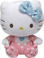 Jungly World HELLO KITTY - Pink Baby W/rattle  - 6 Inch (Multicolor)
