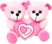 Tabby Toys Cute Teddy Bear Holding Heart  - 22 Cm (Pink)