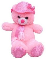 Cuddles Collections Cap Teddy Pink  - 45 Cm (Pink)