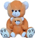 Joey Toys Mother Child Teddy  - 16.5 Inch - Brown