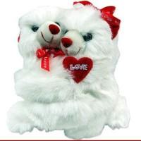 Tokenz Hugging Teddy Bears  - 9 Inch (White)
