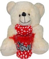 Jai Textiles U-TURN TEDDY BEAR 15 INCH  - 15 Inch (White)