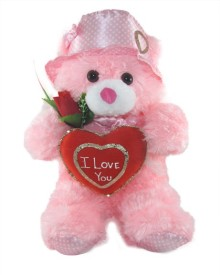 Tickles Cap Teddy With I Love You Heart  - 36 cm