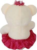 Funny Teddy Sweet Teddy Bear In Frock  - 28 Cm (Purple)