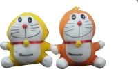 Ekku Combo Pack Of Two Doremon  - 6 Inch (Orange, Yellow)